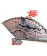 VINTAGE  RESIN EAGLE  On Fan WALL HANGING with Red Tassel  - $26.72
