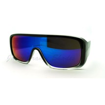 Mens Sporty Sunglasses Flat Top Square Rectangular Reflective Lens - $7.95