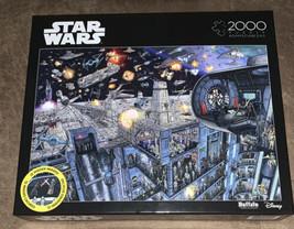 Disney STAR WARS Death Star 2000 Piece Jigsaw Puzzle Buffalo Games Brand New - $24.50
