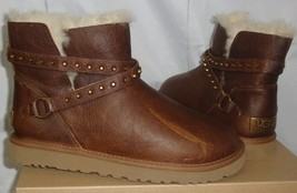 UGG Australia EMERSEN Short Leather Studded Boots Size US 8,EU 39 NEW #1005389 - $89.09