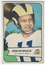 1954 Bowman Football - Norm Van Brocklin - #8 - EX Condition - $39.59