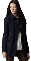 NWT Ann Taylor Loft Navy Twill Officer Military Pea Coat Jacket 12 $188 - $142.49
