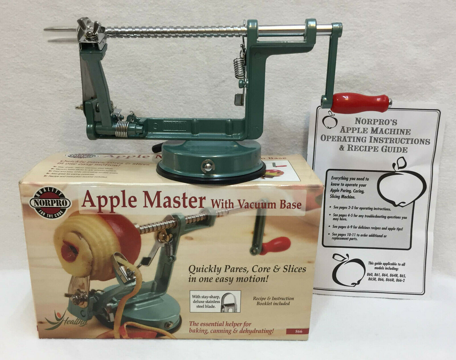 Norpro Apple Master Apple Peeler Parer Corer & Slicer w/ Vacuum Base #866 - $24.74