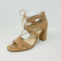Circus by Sam Edelman Womens 9.5 Emilia Lace Up Micro Suede Heels Tan - $27.79