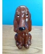 Vintage Enesco Sad EyedBassett Hound Dog Savings Bank Made in Japan READ - $10.84