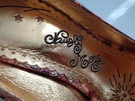 Patent Slide NAUGHTY Brown Orange In 6 Peep Size B2766 Heels Leather MONKEY Toe tw01q