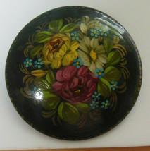 Vintage Artist Designer Signed Hand Painted Floral Brooch - $22.28