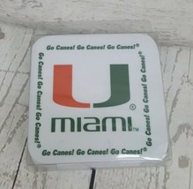 Set of 6 NCAA MIAMI Hurricanes Melamine Square Coasters Man Cave Bar Col... - $16.28