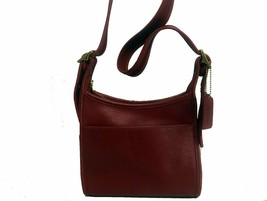 Coach Small Leather Crossbody / Saddle Bag Red - $136.75