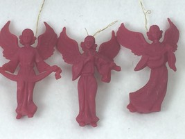 3 Vintage Raspberry Pink Angels Hong Kong Angel 25257 Ornament Ornaments - $28.95