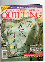 August 1998/American Patchwork & Quilting/Preowned Craft Magazine - $3.99