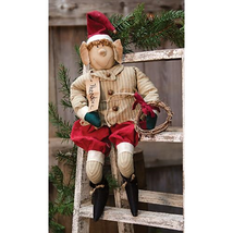 Primitive THEODORE ELF DOLL Country Farmhouse Winter Christmas Holiday -... - $56.99