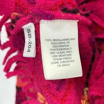 Susan Bristol Wool Cardigan Sweater Size Large L Button Front Hand Embroidered image 4