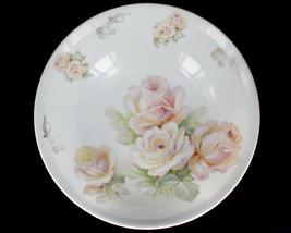 Vintage 30s Marked Bavaria Porcelain Peach Floral And Silver Resist Rose... - $33.29