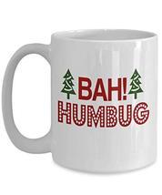 Bah Humbug Christmas Mug White Ceramic Cup for Son from Mom - $19.75