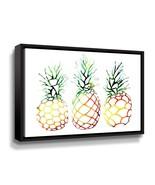 'Retro Pineapples' By Sam Nagel Framed Canvas Wall Art - $56.99