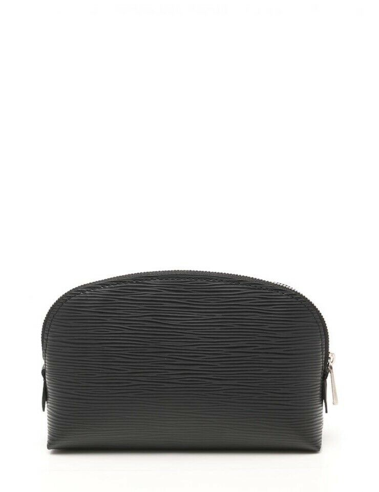 Louis Vuitton Pochette Cosmetic Pouch M41348 leather Noir Auth