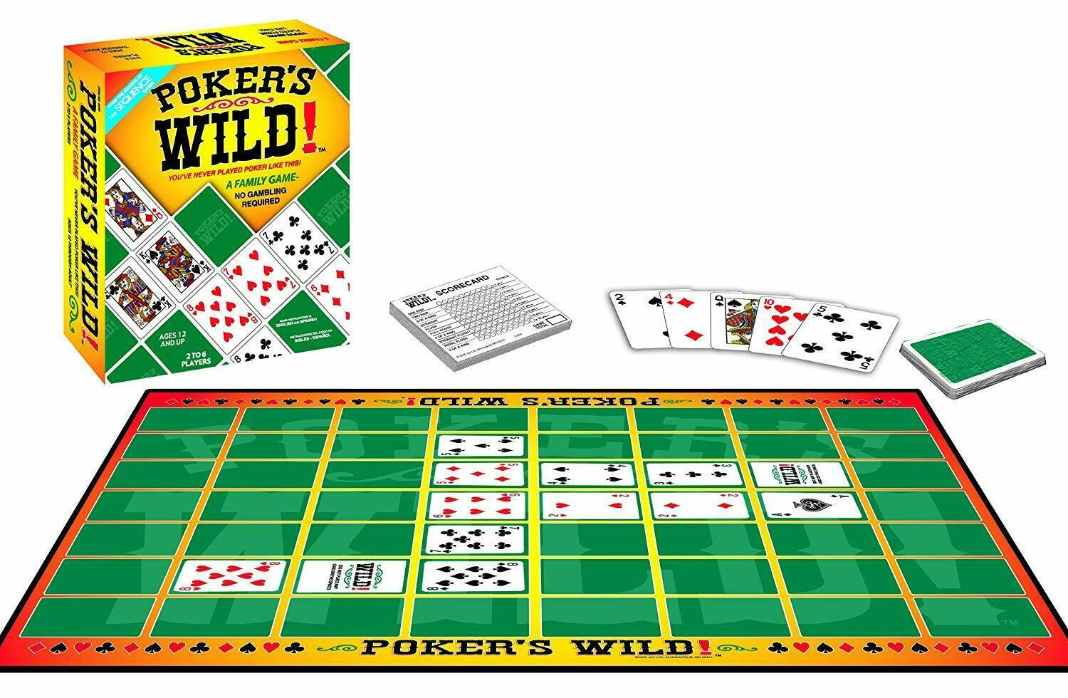 Jax Poker's Wild - From The Makers Of The SEQUENCE Game SEALED NEW FREE SHIPPING