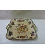"Mason's Ironstone Sandwich Serving Tray 9"" Flower Pattern Floral Antique... - $27.61"