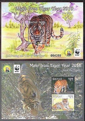 Bhutan 2010 WWF, Male Iron Tiger Yr / Save the Tiger, M/S set MNH