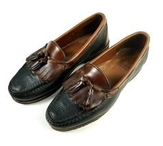 Allen Edmonds Mens Loafer Shoes Size 9 D Black / Brown Moc Toe Kiltie Ta... - $34.60