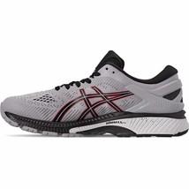 Asics Men GEL-Kayano 26 Running Shoes Grey/Black/Red/Yellow 1011A541 020 - $120.00