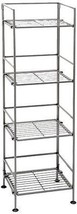 Utility 4 Tier Shelf Tower Shelving Kitchen Books Furniture Office Rack NEW - $57.75