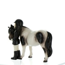 Hagen Renaker Specialty Horse Girl with Pinto Pony Ceramic Figurine image 4
