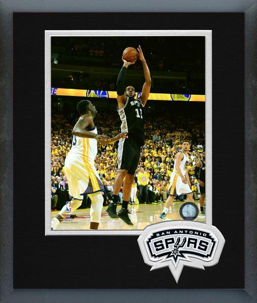 LaMarcus Aldridge Spurs 2016-17 NBA Playoffs Action - 11x14 Matted/Framed Photo