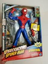 "Rare 2009 Wisecracking Spider-man Spiderman Action Figure Hasbro 12"" Marvel NIP - $68.59"