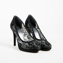 Stuart Weitzman Black Floral Lace & Satin Trimmed Platform Pumps SZ 7M - $95.00