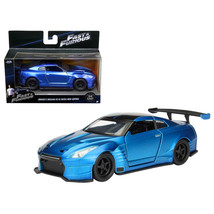 Brians 2009 Nissan GTR R35 Blue Ben Sopra Fast & Furious Movie 1/32 Diecast Mode - $19.56