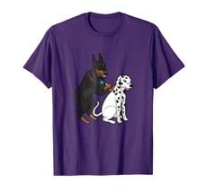 New Tee - Doberman Tattooing Spots on Dalmatian Funny Dog T-Shirt Men - $19.95+