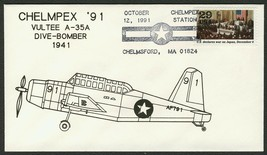 Vultee A-35A-World War II 50th Anniv. Chelmpex '91 [3] **ANY 4=FREE SHIP... - $1.00