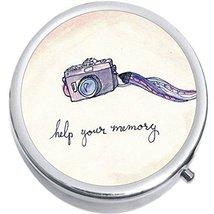 Help Your Memory Camera Medicine Vitamin Compact Pill Box - $9.78