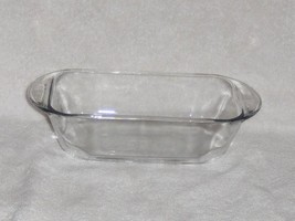 ANCHOR HOCKING CLEAR GLASS 5 X 9 1.5 LITER LOAF BAKING DISH PAN VGC - $9.49