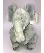 "10"" VINTAGE 1992 GUND SOFT GRAY BABY ELEPHANT STUFFED ANIMAL PLUSH NEW - $58.04"