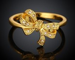 Kr040 a cute bow design 18k gold plated finger thumb155 crop