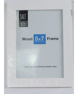 Picture Frame Salt 5 x 7 inches Wood Frame White - $6.92