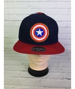Marvel Captain America Shield Embroidered Blue Red Adjustable Snapback H... - $40.19