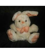 VINTAGE ANIMAL FAIR WHITE EASTER BUNNY RABBIT ORANGE FEET & BOW STUFFED ... - $22.44