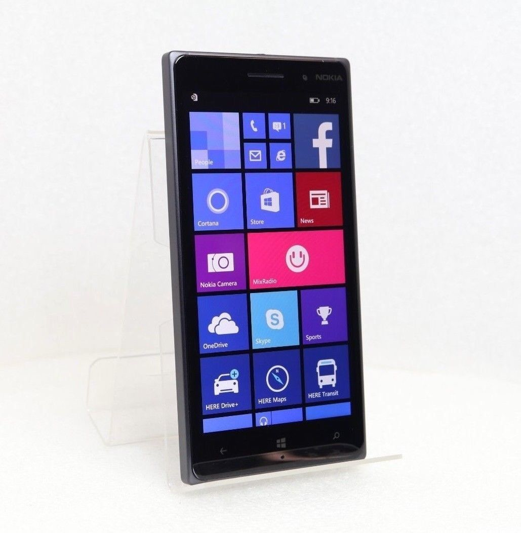 "Nokia Lumia 830 | 16GB 4G (GSM UNLOCKED) 5.0"" Windows Smartphone RM-985 - Black"