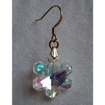 Crystal Snowflake Earrings image 2