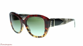 Burberry Women Sunglasses BE4248 36358E Red Havana/Green Gradient Lens 57mm - $163.93