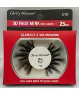 CHERRY BLOSSOM 3D FAUX MINK EYELASHES 25mm GLAMOUR & VOLUMINOUS  #72702 - $1.97