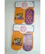2 Pair Skidders LSU Tigers Socks 6 Months Baby Skid Proof Geaux Tigers - $9.89