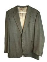 Lanificio Wool Silk herringbone (Luca) Wool Blazer Sport Coat XL 46 - $36.00