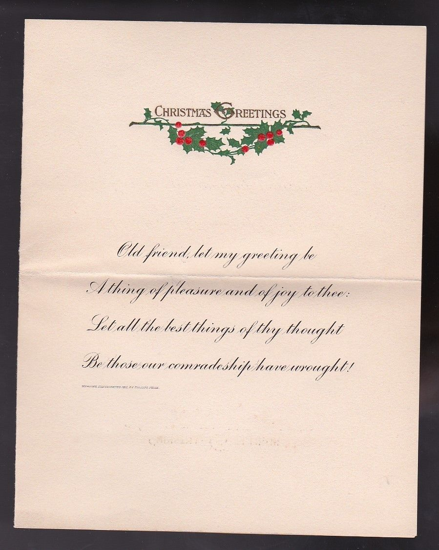 SARANAC LAKE, NY DECEMBER 20 1916 FLAG CANCEL WITH CHRISTMAS CARD