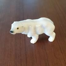 Vintage Polar Bear Figurine, Bone China, Delta Japan Animal Figurine, Bear Decor image 7