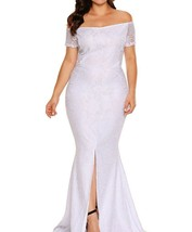 Plus Size Lace Gown Wedding Dress XL 2XL 3XL - $36.79